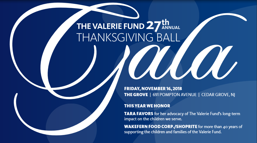 The 27th Annual Thanksgiving Ball Gala   The Valerie Fund ...